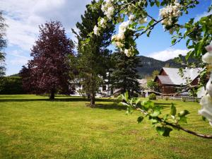 Ein Garten an der Unterkunft Ferienwohnung Bergfeeling