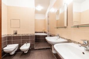 A bathroom at Rezidence Čertovka