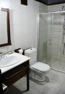 A bathroom at Hotel St. Naum