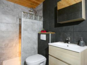 Salle de bains dans l'établissement Auberge Du Fraizier
