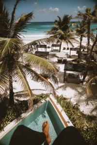 Vista de la piscina de Hotel Ma'xanab Tulum o alrededores