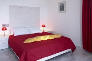 Ένα ή περισσότερα κρεβάτια σε δωμάτιο στο Atrium Of Alonnissos