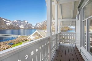 Balcon ou terrasse dans l'établissement Sakrisøy Gjestegård