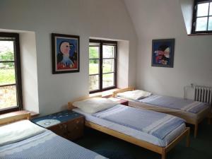Postel nebo postele na pokoji v ubytování Penzion U Tkadlen