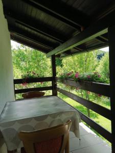 Balkón nebo terasa v ubytování House Jezerka