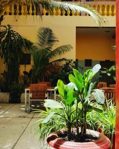 Hôtel Saint-Louis Sun Dakarにあるレストランまたは飲食店