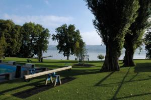 Ein Garten an der Unterkunft Beinwil am See Youth Hostel