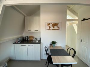 A kitchen or kitchenette at Appartement Havenzicht
