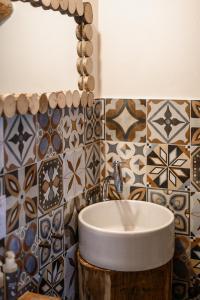 A bathroom at Agriturismo Biologico Sant'Egle