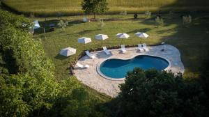 A view of the pool at Agriturismo Biologico Sant'Egle or nearby