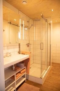 Een badkamer bij Boerenhofstede de Overhorn