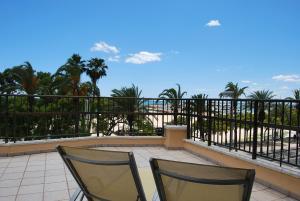 Un balcón o terraza de Hotel Rovira