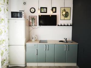 A kitchen or kitchenette at Apartamenty Kalina na Pobedy 49