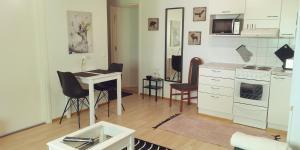 Majoituspaikan Vaahteramäki Guesthouse keittiö tai keittotila