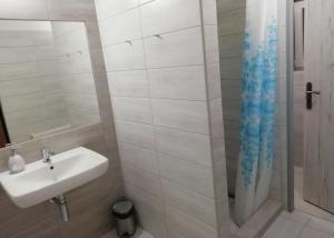 Koupelna v ubytování Penzion Beskyd