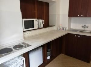 Kuchyň nebo kuchyňský kout v ubytování Penzion Beskyd