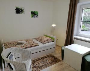 Postel nebo postele na pokoji v ubytování Penzion Beskyd