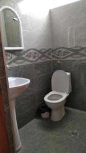 A bathroom at Guest House Rusudan