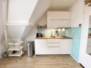 Küche/Küchenzeile in der Unterkunft Odyssee