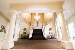 The lobby or reception area at The Angel Hotel- Part of the Cairn Collection