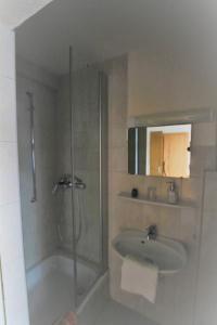 Ein Badezimmer in der Unterkunft Hotel-Pension- Vesperstube Waldblick