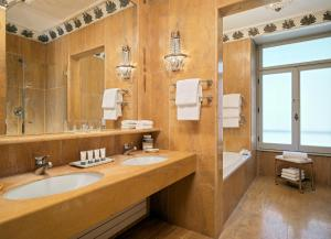 A bathroom at The Westin Excelsior, Rome