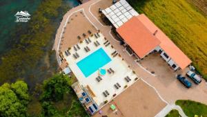 Vedere de sus a Clisura Dunarii- Danube Village Resort