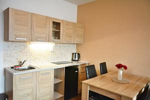 A kitchen or kitchenette at Pension Calla