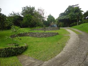 A garden outside Arco Iris Lodge