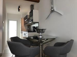 Ein Sitzbereich in der Unterkunft LuxApartments