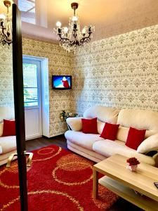 Гостиная зона в 2 х комнатная квартира на Лермонтова, Набережная