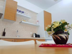 A kitchen or kitchenette at Odyssey Residence Apartments