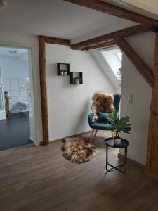 Ein Sitzbereich in der Unterkunft Dillinger Schwabennest