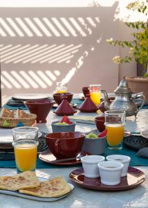 Breakfast options available to guests at Riad Les Hirondelles Boutique Hotel