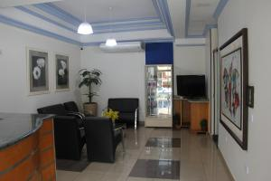 A seating area at Alpha Ville Hotel