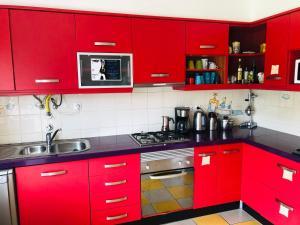A cozinha ou kitchenette de Captains Log House