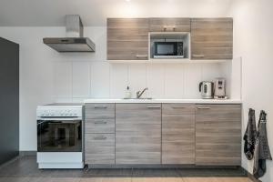 Een keuken of kitchenette bij Wijngaardstraat 12