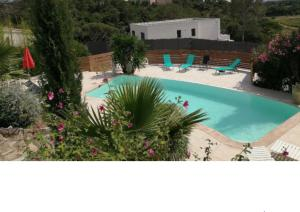 The swimming pool at or near Appartements les Mimosas & piscine