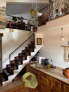 A cozinha ou kitchenette de Villa Pedra Natural Houses