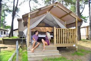 Rodina v ubytování Camping Laguna Village