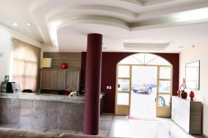 The lobby or reception area at Hotel e Restaurante Champagne
