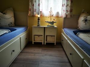 Ein Badezimmer in der Unterkunft Bungalow am See