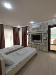 Cama ou camas em um quarto em Villa Jumeirah