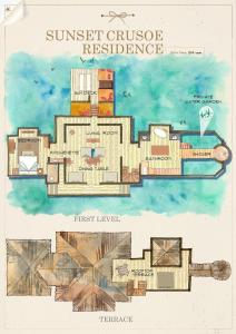 The floor plan of Gili Lankanfushi Maldives