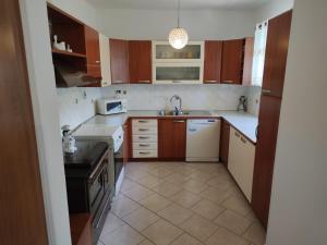 Kuhinja oz. manjša kuhinja v nastanitvi Apartment Wine & Olive oil Mofardin