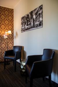 Ein Sitzbereich in der Unterkunft Hotel De Lange Man Monschau Eifel