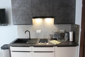 Kuchnia lub aneks kuchenny w obiekcie Apartamenty Jagiellońska 23