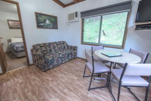 A seating area at BIG4 Wye River Holiday Park