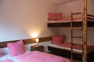 Ein Etagenbett oder Etagenbetten in einem Zimmer der Unterkunft Talstation Heumöderntal