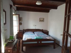 Postel nebo postele na pokoji v ubytování Pension Červená
